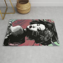 Geisha and Full Moon Rug