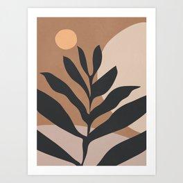 Tropical Leaf- Abstract Art 2 Art Print