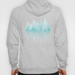 Geometric Lake Mountain IV - Winter Hoody