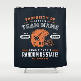 Generic Football T-Shirt Shower Curtain