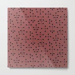 Atomic Era Dots 100 Metal Print
