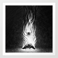 devil Art Prints featuring Devil by Brian Luong