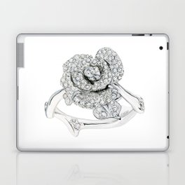 Silver Rose Ring Laptop & iPad Skin