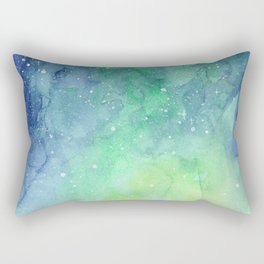 Northern Lights Sky Galaxy Rectangular Pillow