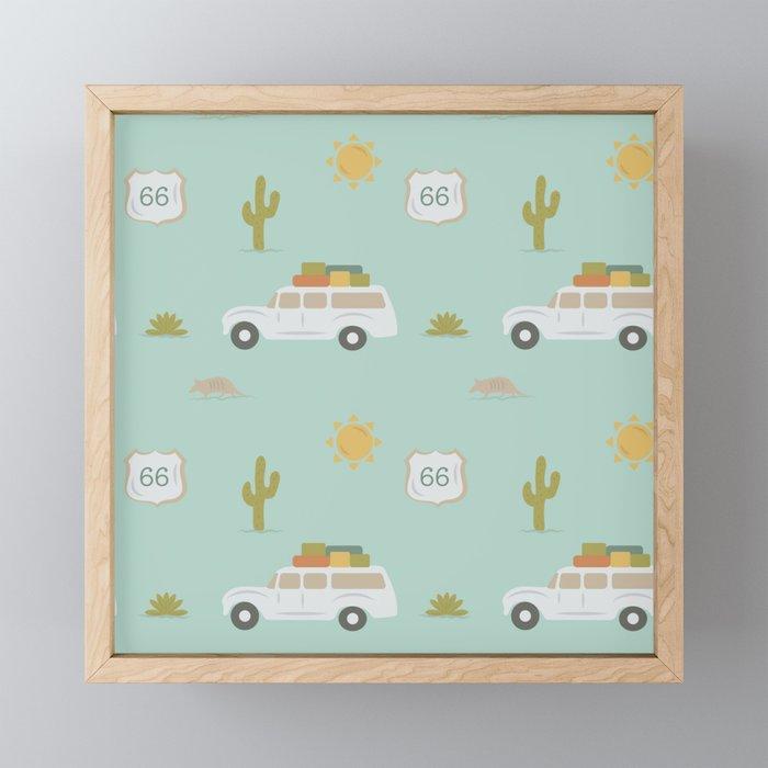 Road Trippin' in Mint Framed Mini Art Print