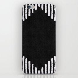 Diamond Stripe Geometric Block Print in Black and White iPhone Skin