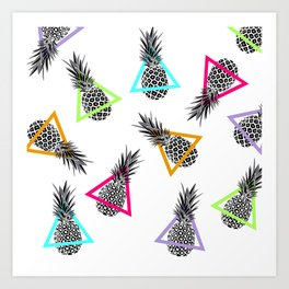 Pineapples & Triangles Art Print