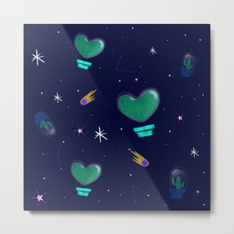 Cactus Space Metal Print