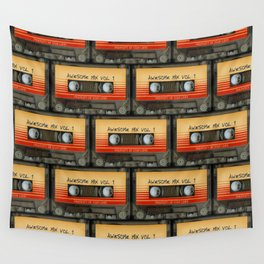 awesome transparent mix cassette tape vol 1 Wall Tapestry