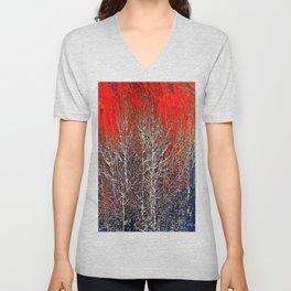 White Trees Unisex V-Neck