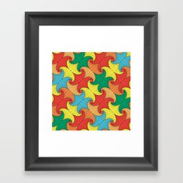 Dancing squares Framed Art Print