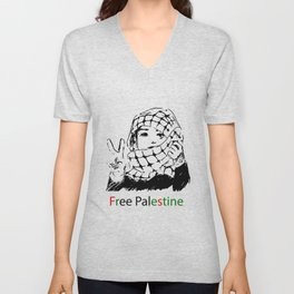 Freedom for Palestine Unisex V-Neck