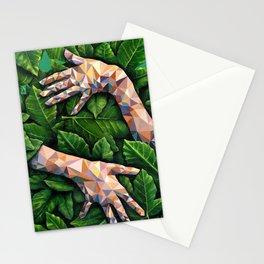 Hands Through Leaves - Brandie Lee - Geometric Shapes - Digital Garden of Eden Stationery Cards