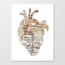 Sound Of My Heart (on white) Canvas Print