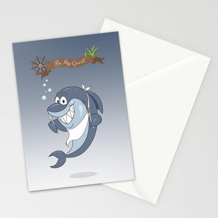 Cartoon Shark Stationery Cards