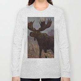Vintage Moose Painting (1909) Long Sleeve T-shirt
