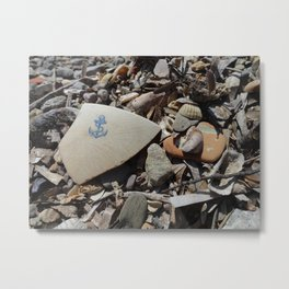 Blue Anchor Metal Print
