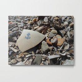 Blue Anchor Metal Print