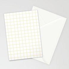 Grid (Vanilla/White) Stationery Cards