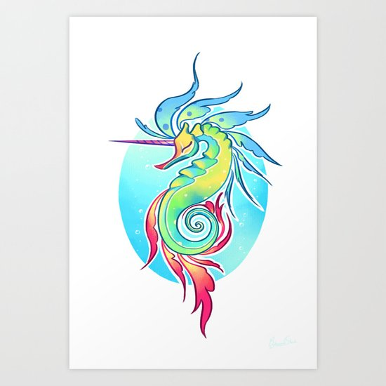 Sea Unicorn Art Print