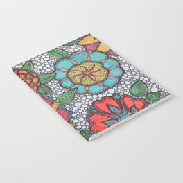 Colorful Patterned Blooms Notebook