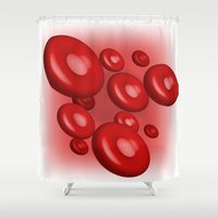 blood Shower Curtains featuring Blood by JDHicks