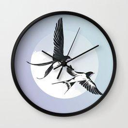Swallows Return Wall Clock