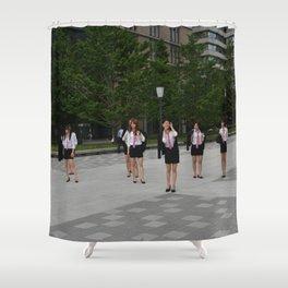 Japanese high school students Shower Curtain
