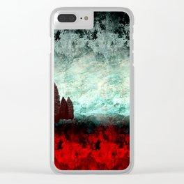 Fantasy Landscape Clear iPhone Case