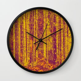 In the middle of the forest #decor #society6 Wall Clock