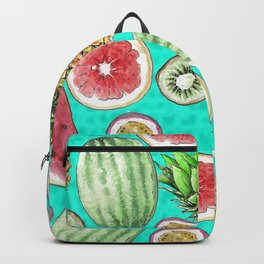 Tropical Tastes in Turquoise Backpack