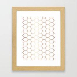 Honeycomb - Rose Gold #372 Framed Art Print