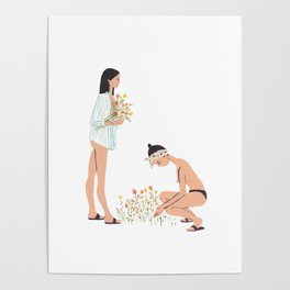 Fia & Fermina: Picking Wildflowers Poster