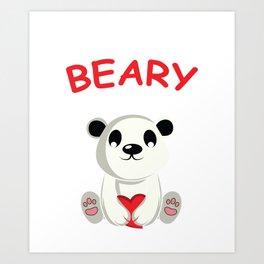 Beary Best Friend Biologist Gift Art Print