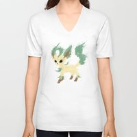 leaf V-neck T-shirts featuring Leaf by Melissa Smith