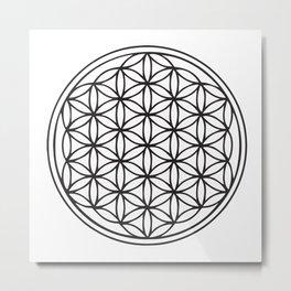 Classic Flower of Life  Metal Print