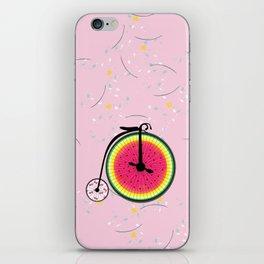 Vintage Bicycle Fruits Wheels Design iPhone Skin