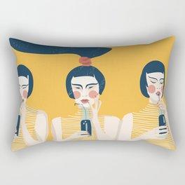 Three Girls in Yellow Rectangular Pillow