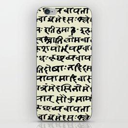 Sanskrit // Parchment iPhone Skin