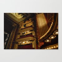 theatre Canvas Prints featuring Theatre by Julia Rose