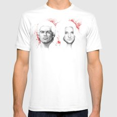 Dexter and Debra X-LARGE Mens Fitted Tee White