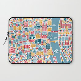 Cologne City Map Poster Laptop Sleeve