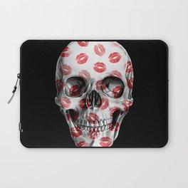 Kisses Skull Black Laptop Sleeve