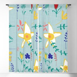 Floral The Tortoise and the Hare is one of Aesop Fables green Blackout Curtain