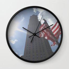 Rockefeller Plaza NYC Wall Clock