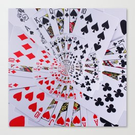 Poker Royal Flush All Suits Droste Spiral Canvas Print