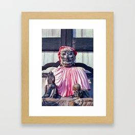 Pindola Bharadvaja statue - Japan Framed Art Print