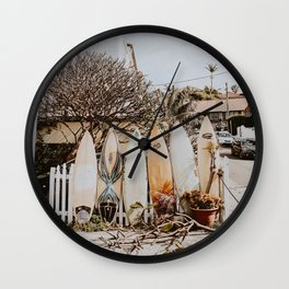 lets surf xxviii / australia Wall Clock