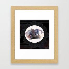 Psychedelic Wolves Framed Art Print