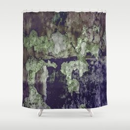Grunge Camouflage Texture Print Shower Curtain